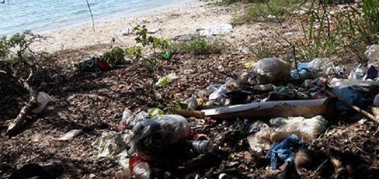 Turista capta basurero clandestino en playa de Bucerías