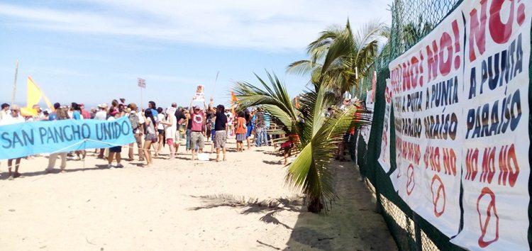 Piden a Peña Nieto clausura definitiva de construcción Punta Paraíso en San Pancho