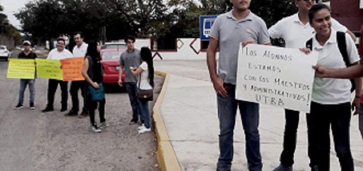 Legal la huelga de profesores y administrativos sindicalizados de la UTBB
