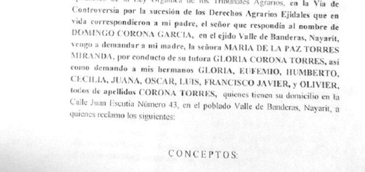 Advierten sobre compras irregulares de tierras del Ejido Valle de Banderas