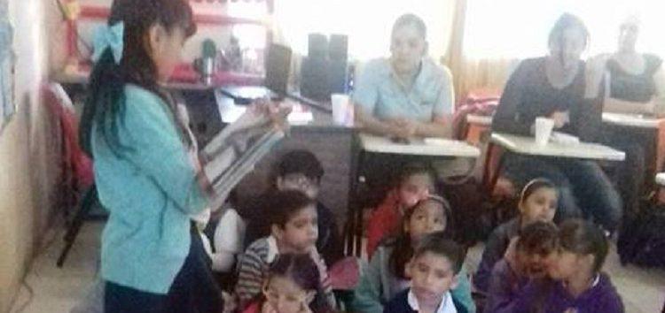 Café Literario con alumnos de primaria de Valle Dorado