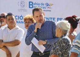 Inaugura Jaime Cuevas puente peatonal en La Cruz de Huanacaxtle