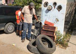 Realizan Jornadas de Patio Limpio y Descacharrización en San José Del Valle