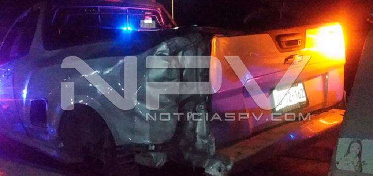 Chocó camioneta en el Boulevard Riviera Nayarit