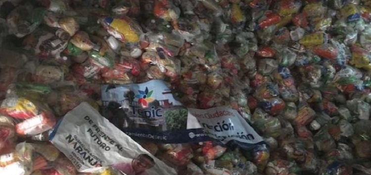 Difunden fotos y videos de despensas para presunta compra de votos en Tepic