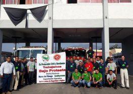 PCyBomberos de Nayarit trabajan bajo protesta