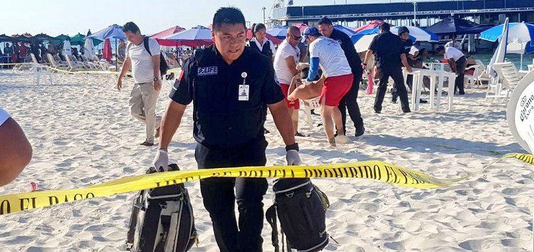 Ataque en playa de Cancún deja dos personas lesionadas
