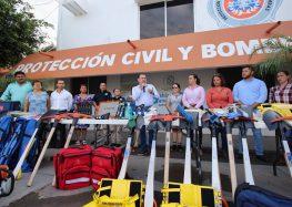 Histórica Inversión en equipamiento entrega Jaime Cuevas a Protección Civil