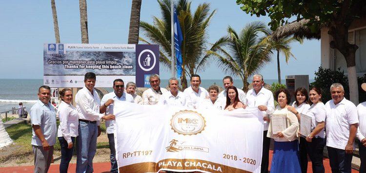 Refrenda Riviera Nayarit distintivo Blue Flag y certificación de 10 playas limpias