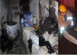 Ardió una lavadora y casi quema una casa
