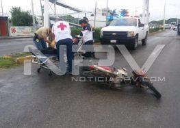 Derrapó motociclista  cerca de Palma Real