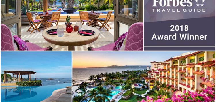 Hoteles de Riviera Nayarit en los Forbes Travel Guide 2018 Star Award Winners