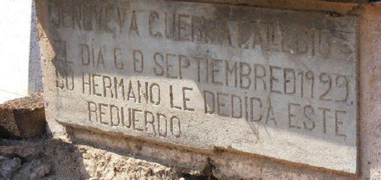 Buscan registro ante el INAH de tumbas antiguas  del panteón de Valle de Banderas