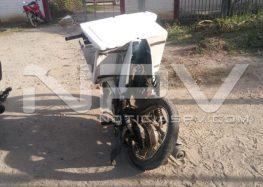 Motociclista lesionado por camiones de Vidanta