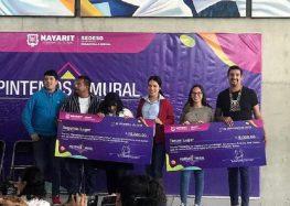 Gana Bahía de Banderas segundo y tercer lugar en concurso estatal de murales de la SEDESO